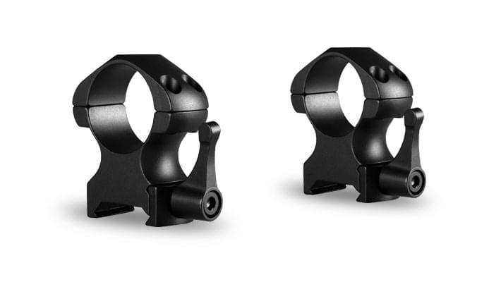 Hawke Precision Steel Scope Mounts - Lever Black