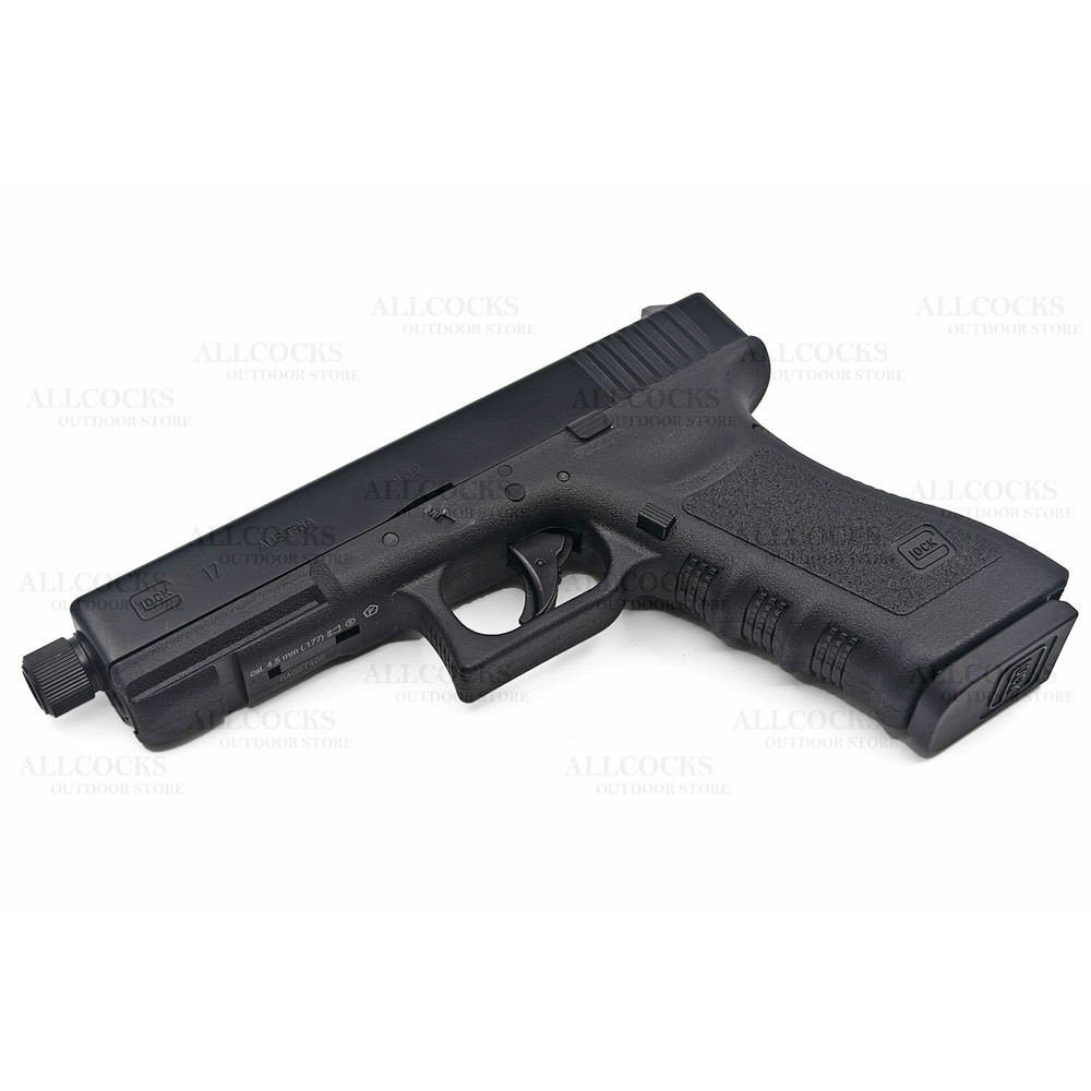 Umarex Glock 17 Dual Ammo CO2 Air Pistol - Threaded - .177 (4.5mm BB) Tactical