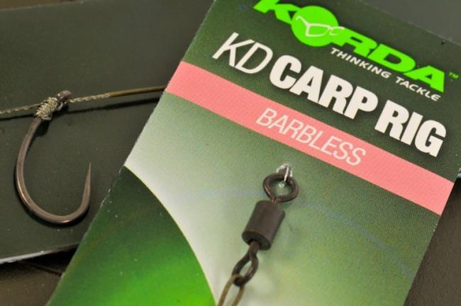 Korda KD Rig - Barbless Charcoal