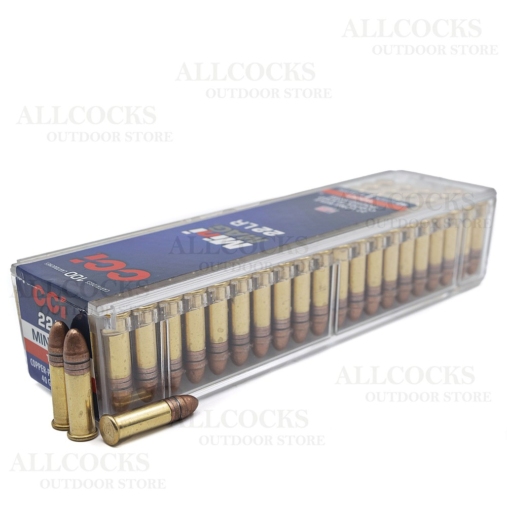 CCI .22LR Ammunition - 40gr - Mini Mag Solid Nose
