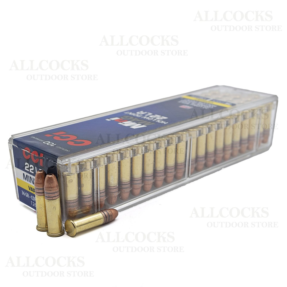 CCI .22LR Ammunition - 36gr - Mini Mag HP