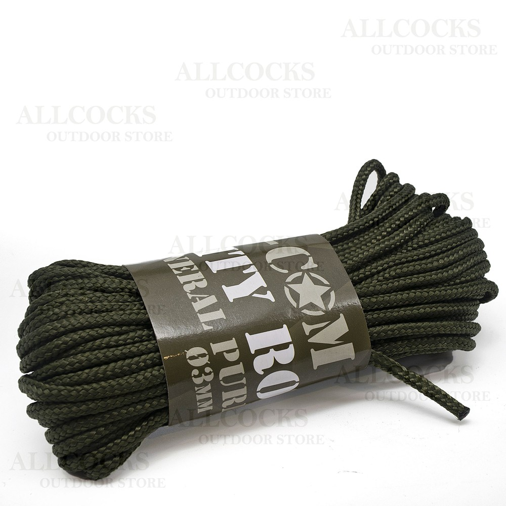 Mil-Com Purlon Cord - 3mm Green
