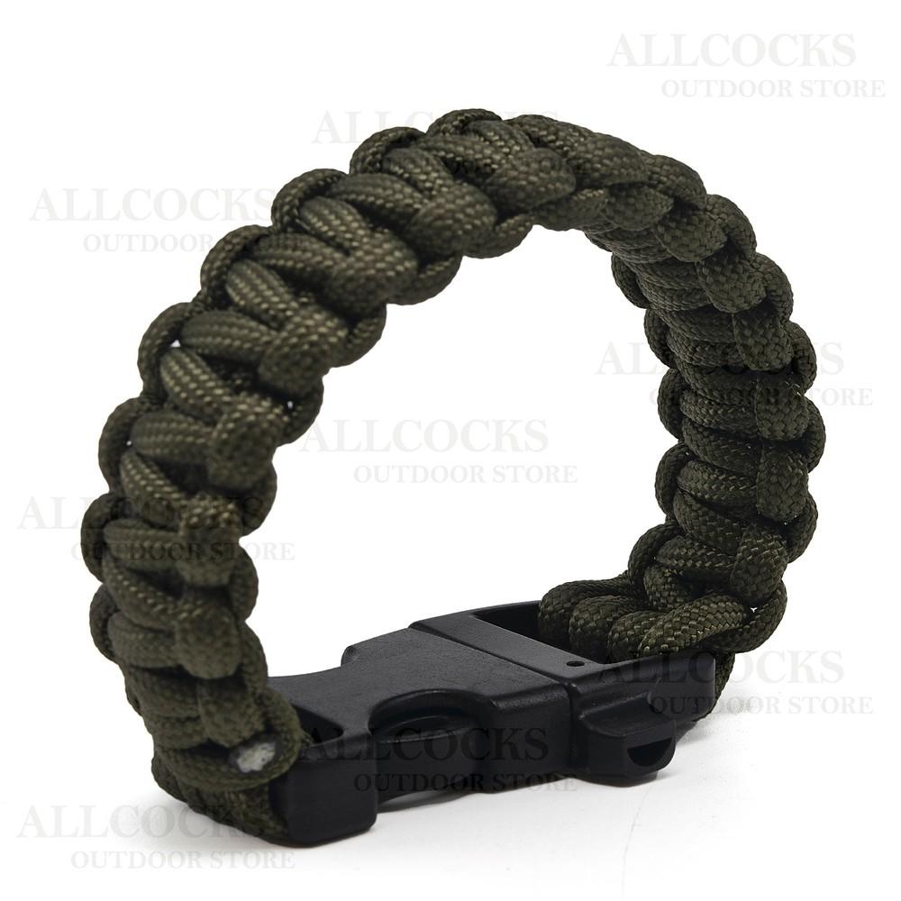 Web-Tex Tactical Paracord Wrist Band Green