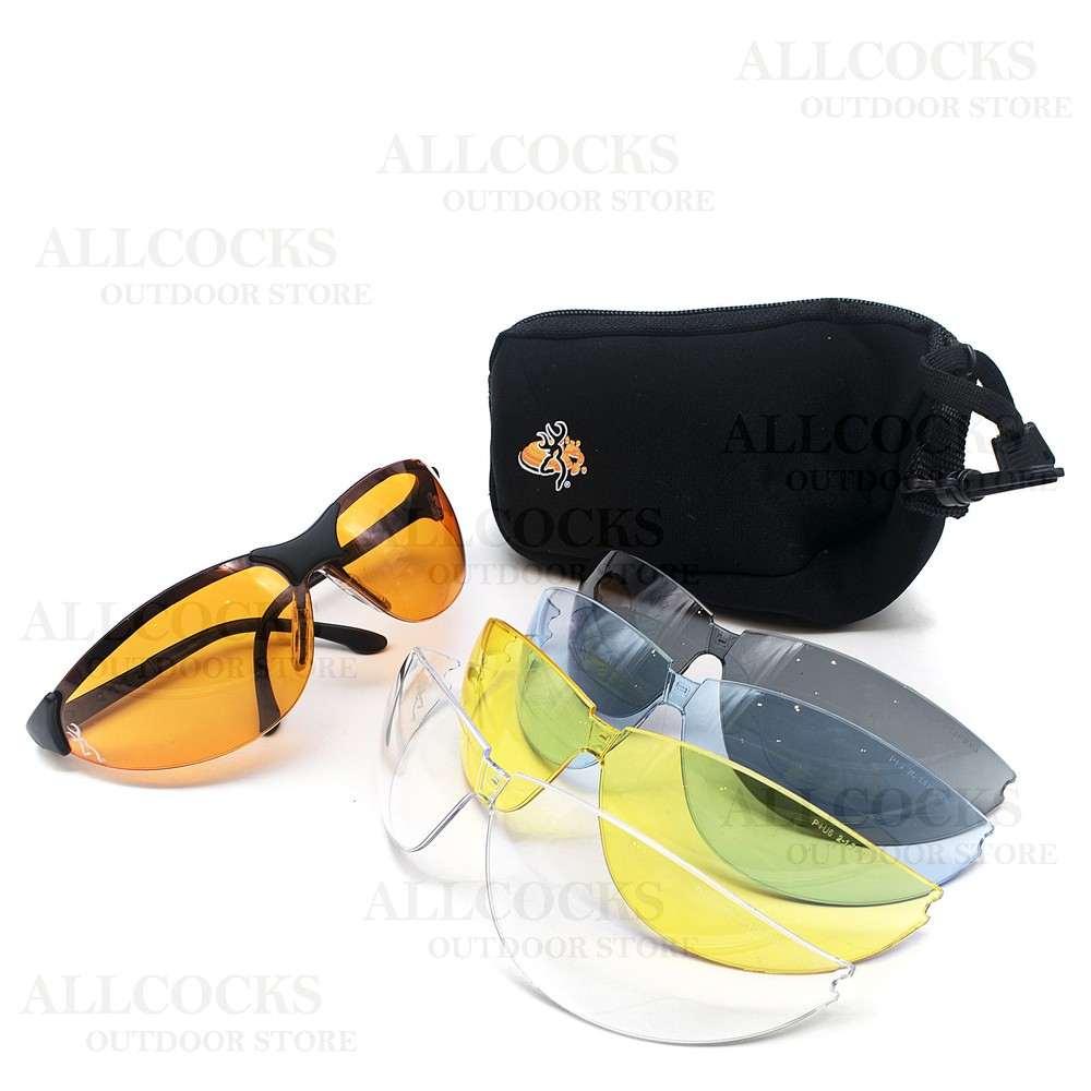 Browning Claymaster Shooting Glasses Assorted
