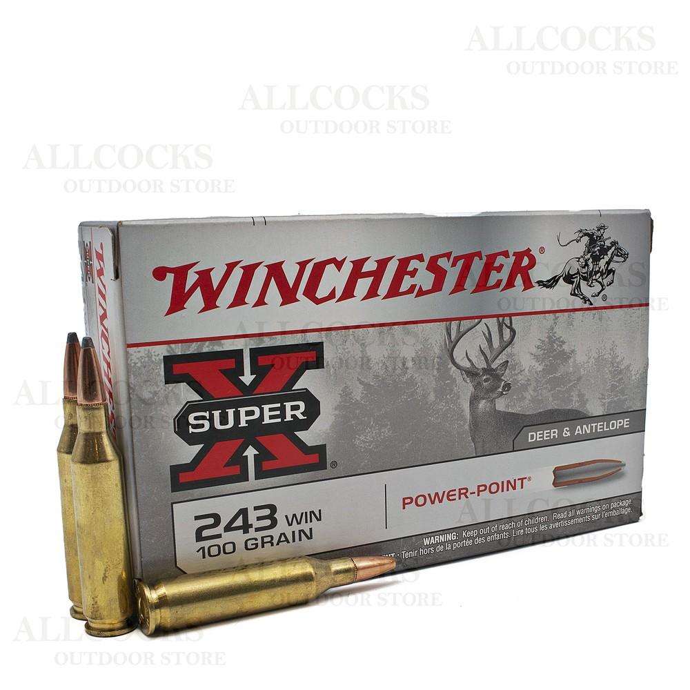 Winchester .243 Ammunition - 100gr - Super-X Power-Point