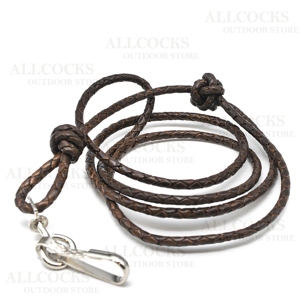 Bisley Plaited Leather Lanyard Assorted