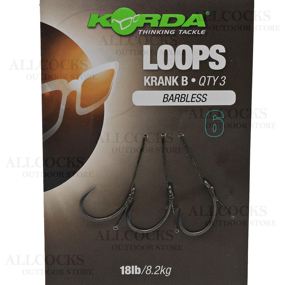 Korda Loop Rigs - Krank - Barbless Weedy Green