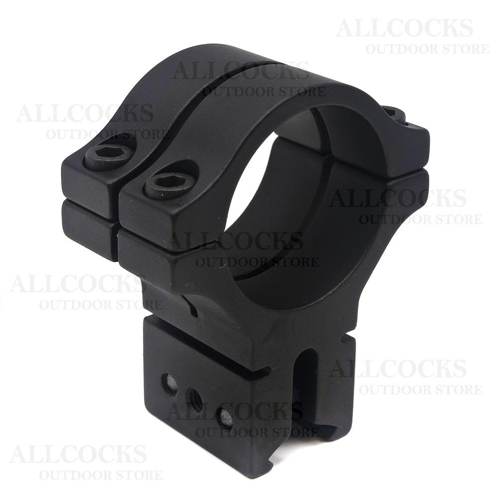 BKL Scope Mounts Matte Black - Double Strap - 9-11mm Medium Black