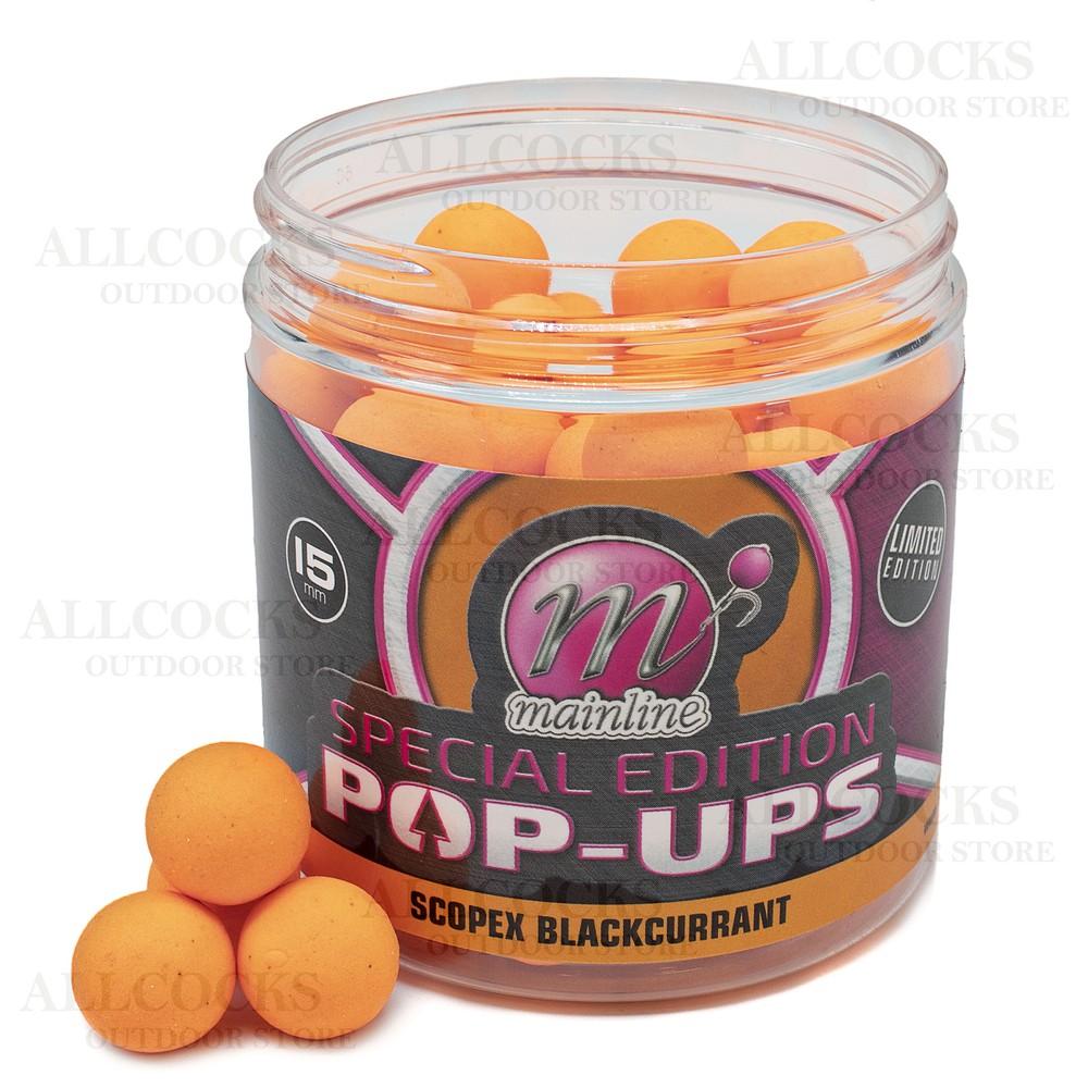 Mainline Baits Special Edition Pop Ups - Scopex Blackcurrent Orange