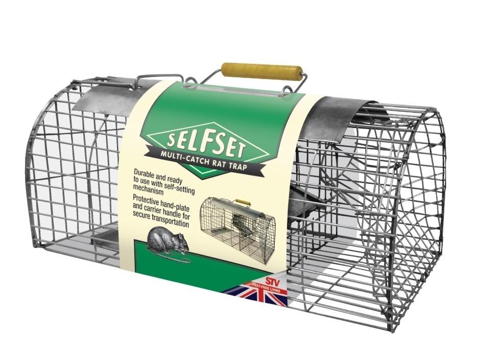 Allcocks Selfset Multi-Catch Rat Trap Stainless