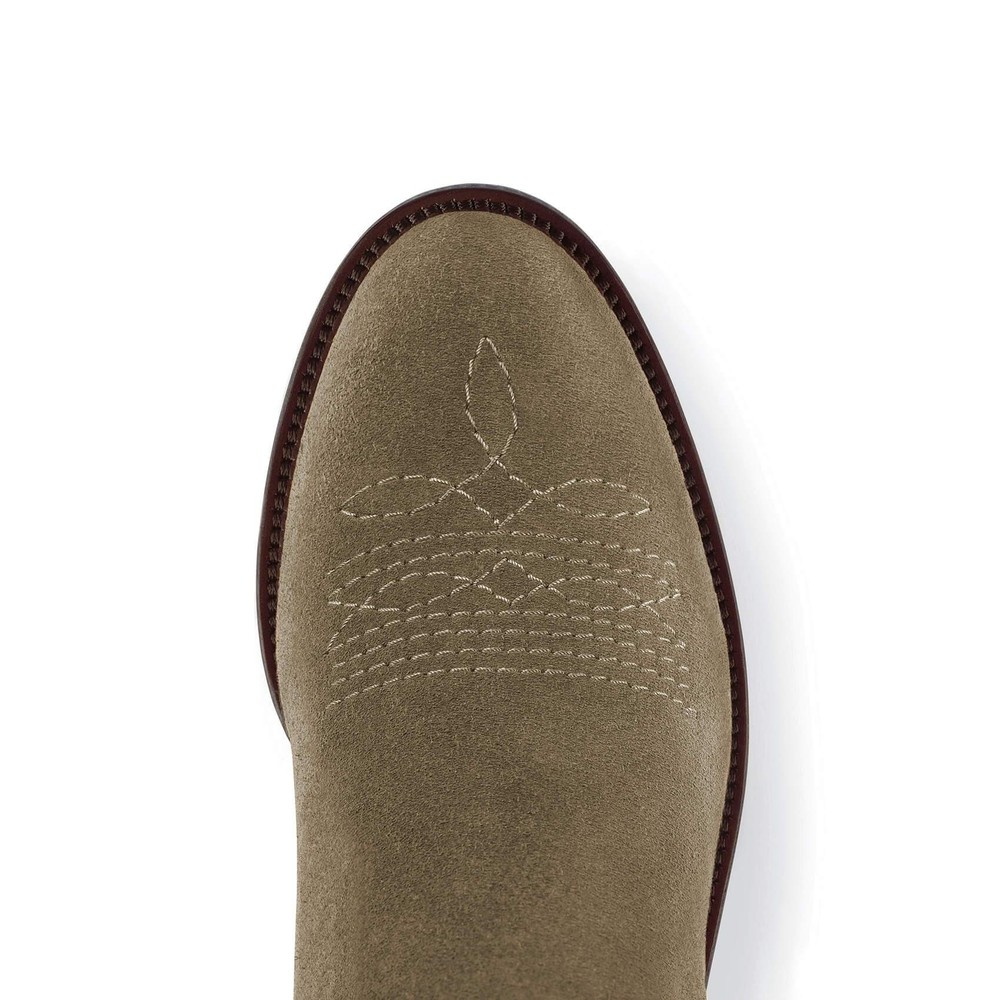 Fairfax & Favor Rockingham Ankle Boot - Khaki Suede Khaki