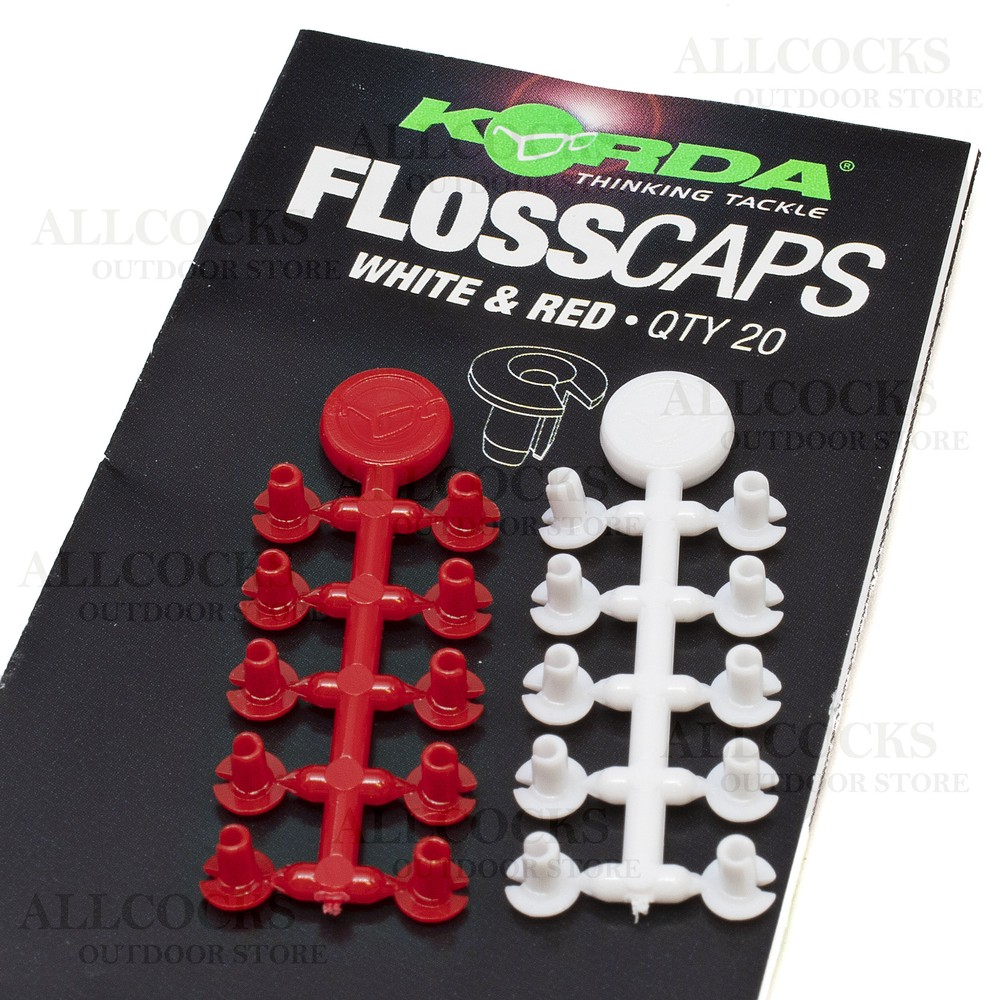 Korda Floss Caps White/Red