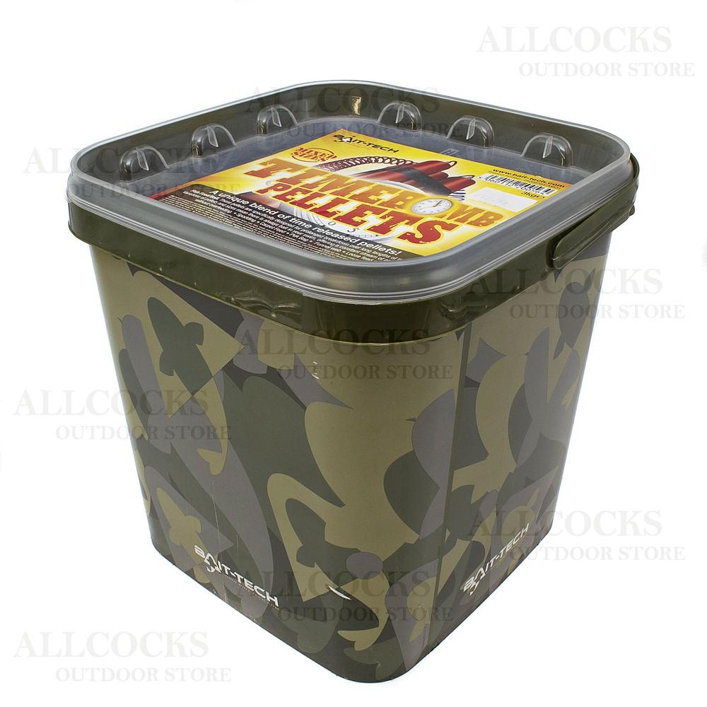 Bait-Tech Camo Bucket - Time Bomb Pellets Brown