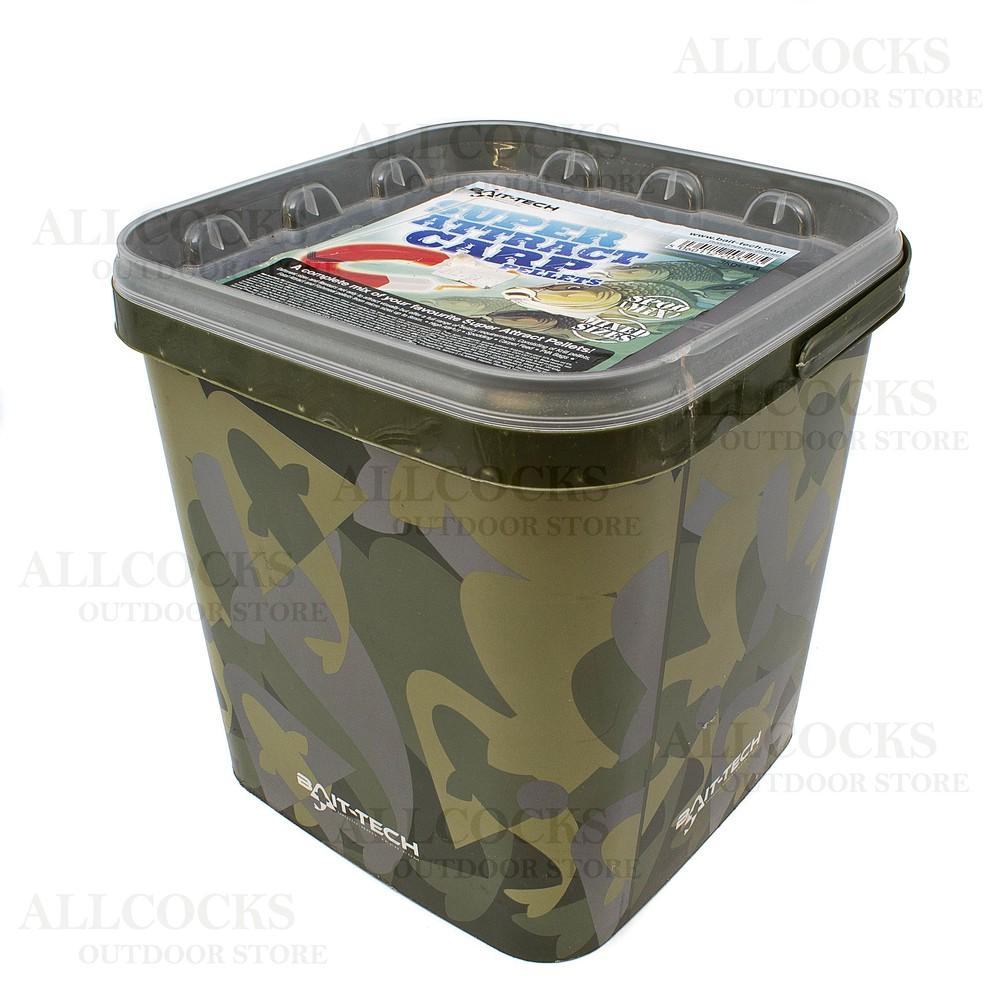 Bait-Tech Camo Bucket - Super Attract Carp Pellets