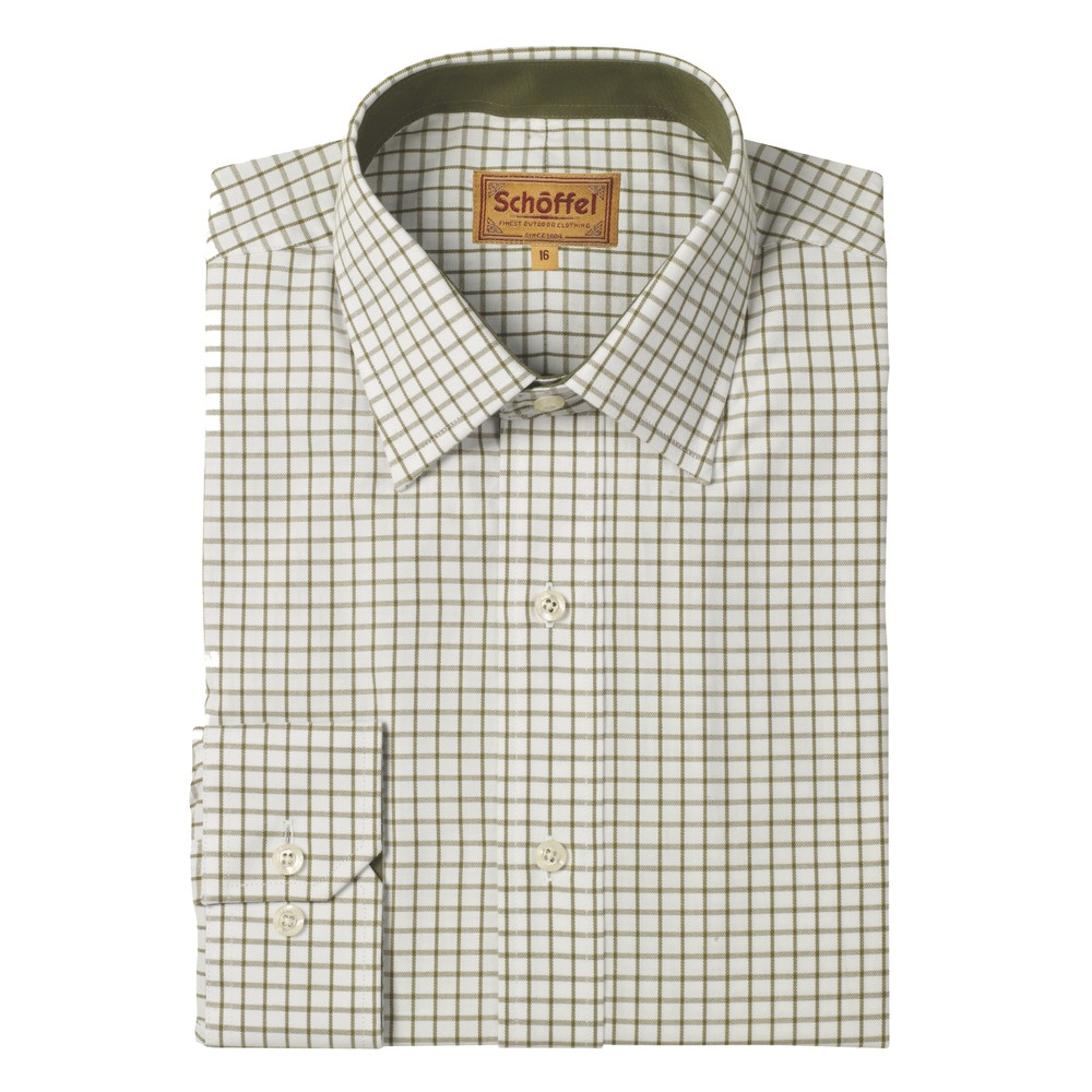 Schoffel Schoffel Cambridge Shirt - Tailored Sporting Fit - Olive