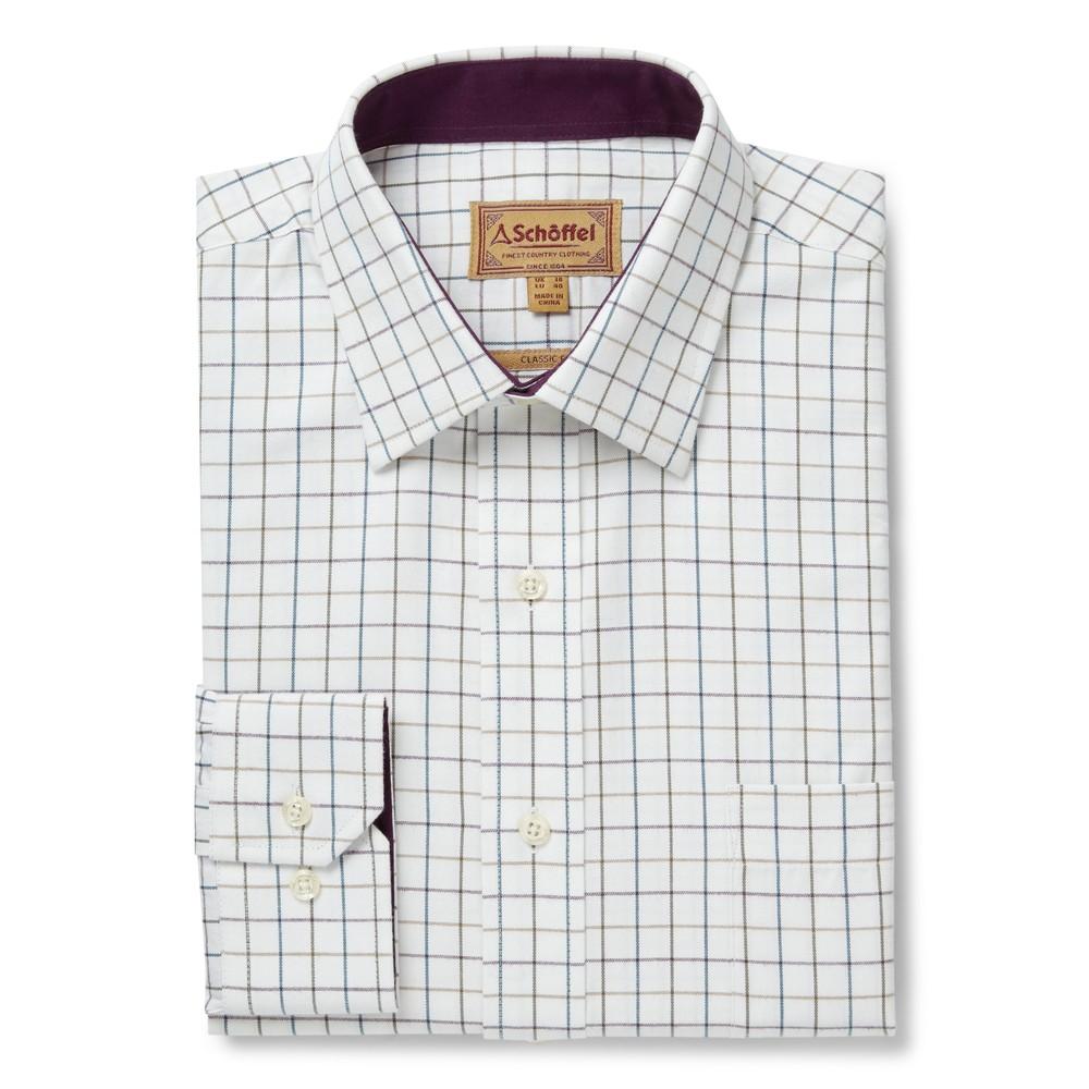 Schoffel Burnham Tattersall Shirt River Bed