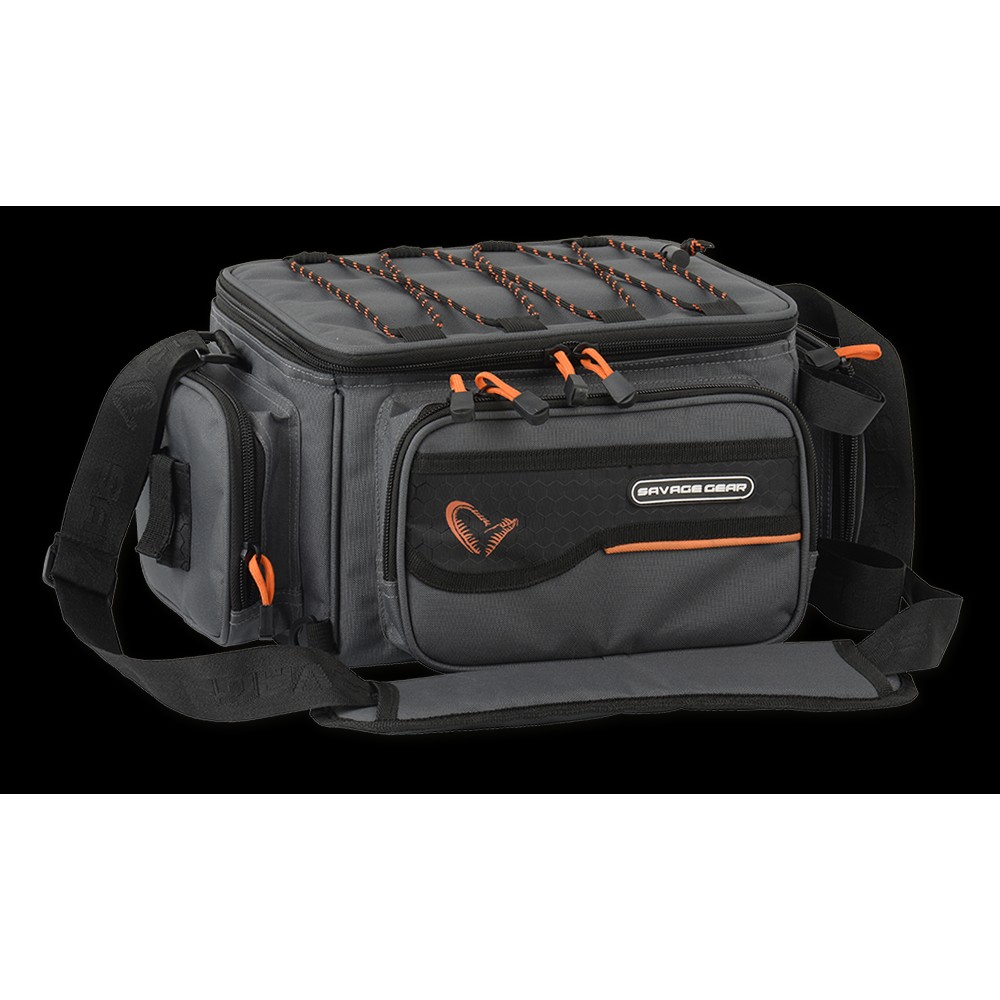 Savage Gear System Box Bag 3 Boxes & PP Bags Orange/Black