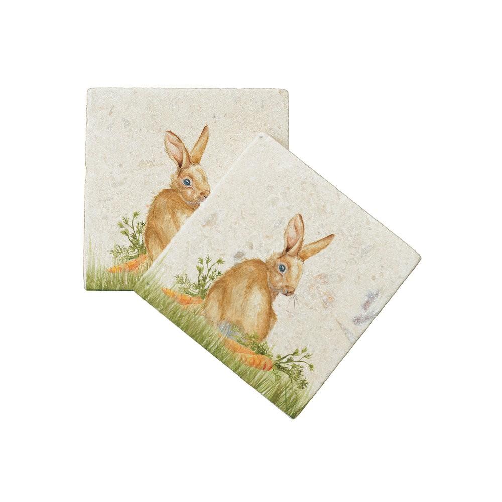 Kate Of Kensington Kate of Kensington Coasters - Rabbit Patch (Pack of 2)