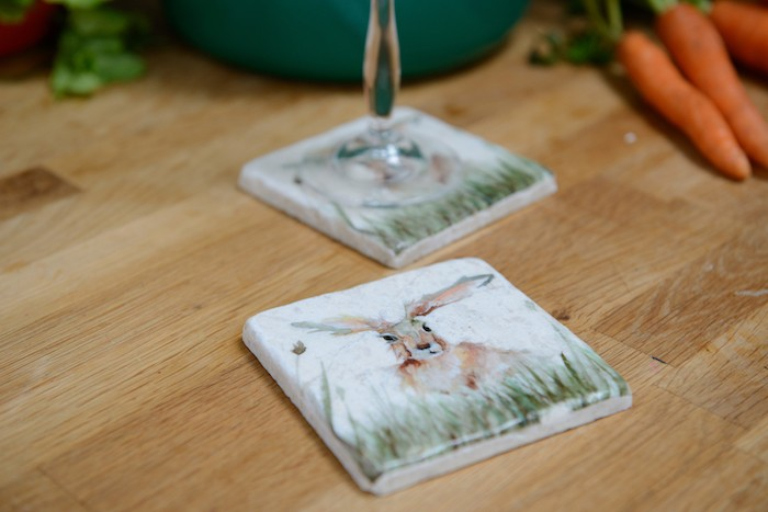 Kate Of Kensington Kate of Kensington Coasters - Family 'A' Hare (Pack of 2) Family 'A' Hare