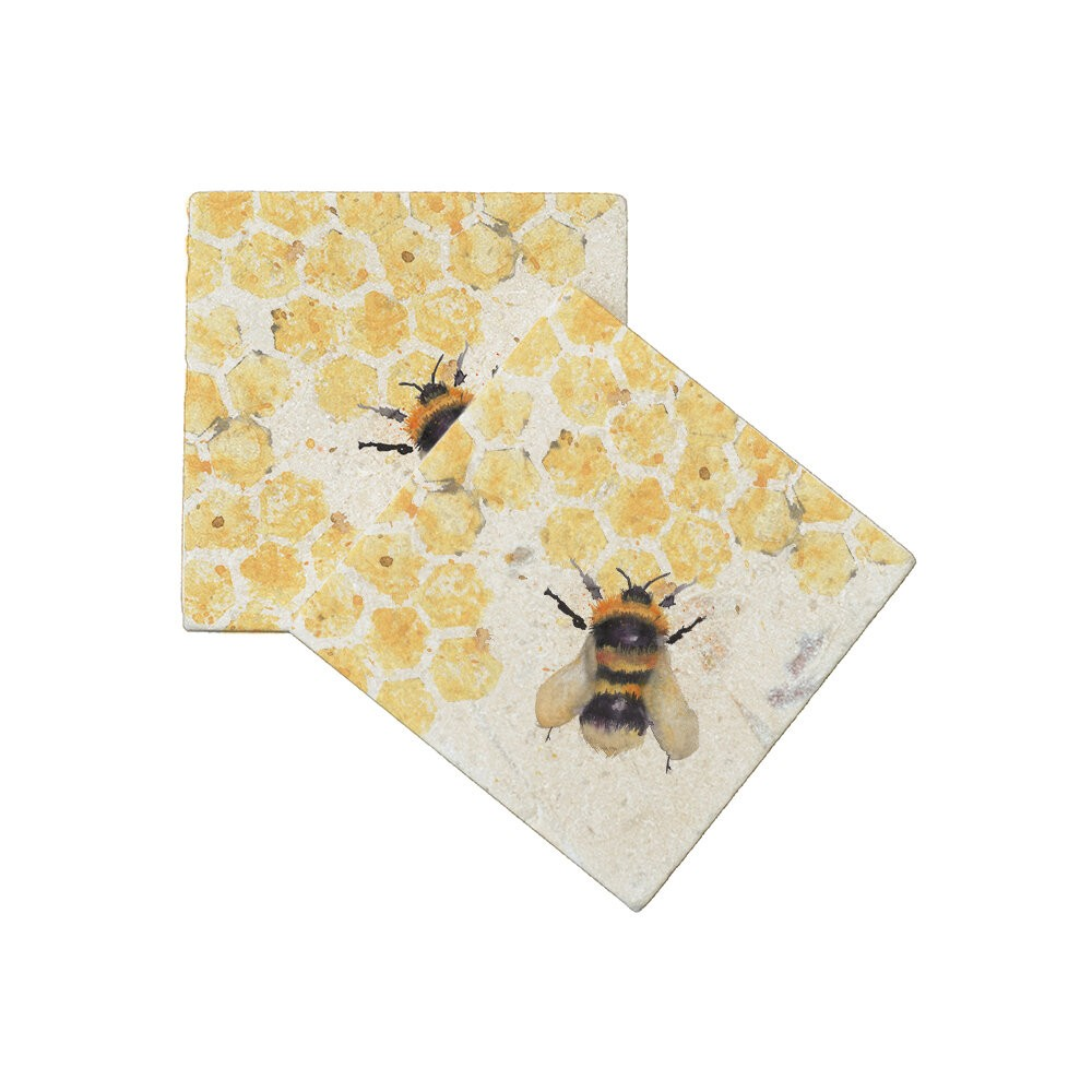 Kate Of Kensington Kate of Kensington Coasters - Bees (Pack of 2) Bees