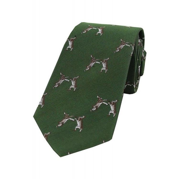 Soprano Country Silk Tie - Woven Boxing Hares