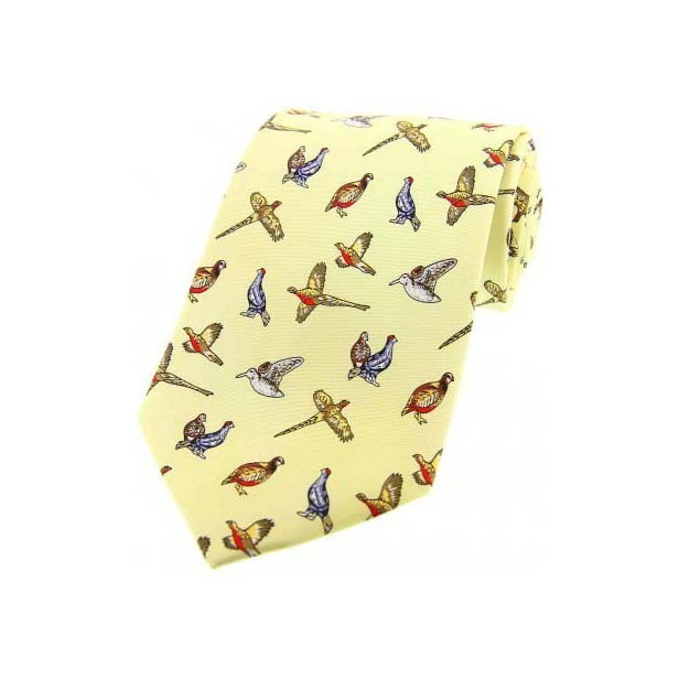Allcocks Country Silk Tie - Mixed Birds