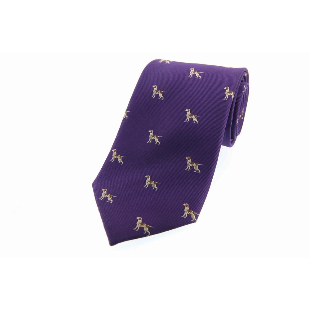 Allcocks Country Silk Tie - Pointer Purple