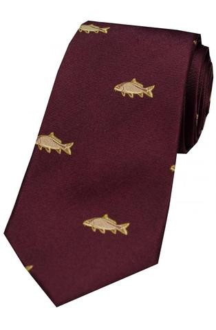 Allcocks Country Silk Tie - Carp