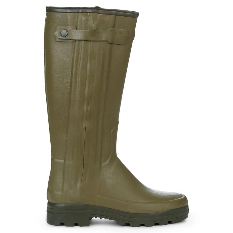 Le Chameau Chasseur Men's Neoprene Lined Wellington Boot Light Green