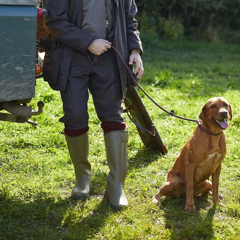 Le Chameau Chasseur Jersey Lined Men's Wellington Boots Vert Vierzon