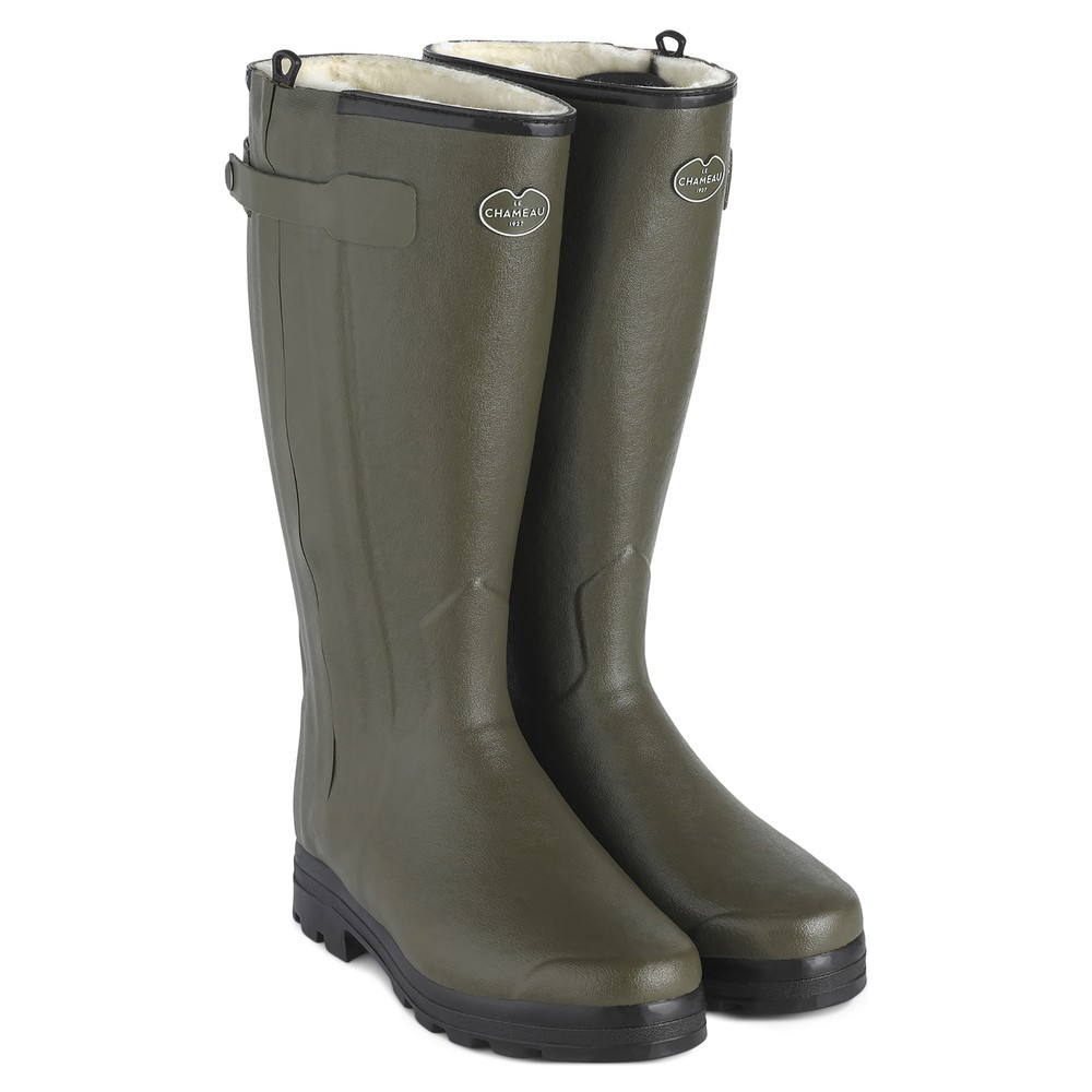 Le Chameau Chasseur Wool Lined Men's Wellington Boots