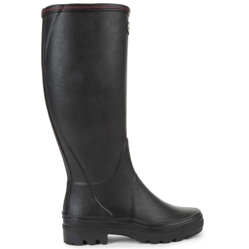 Le Chameau Giverny Jersey Lined Women's Wellington Boots Noir