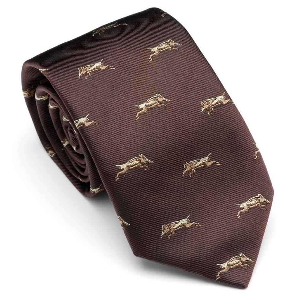 Laksen Wild Boar Tie - Chocolate Chocolate