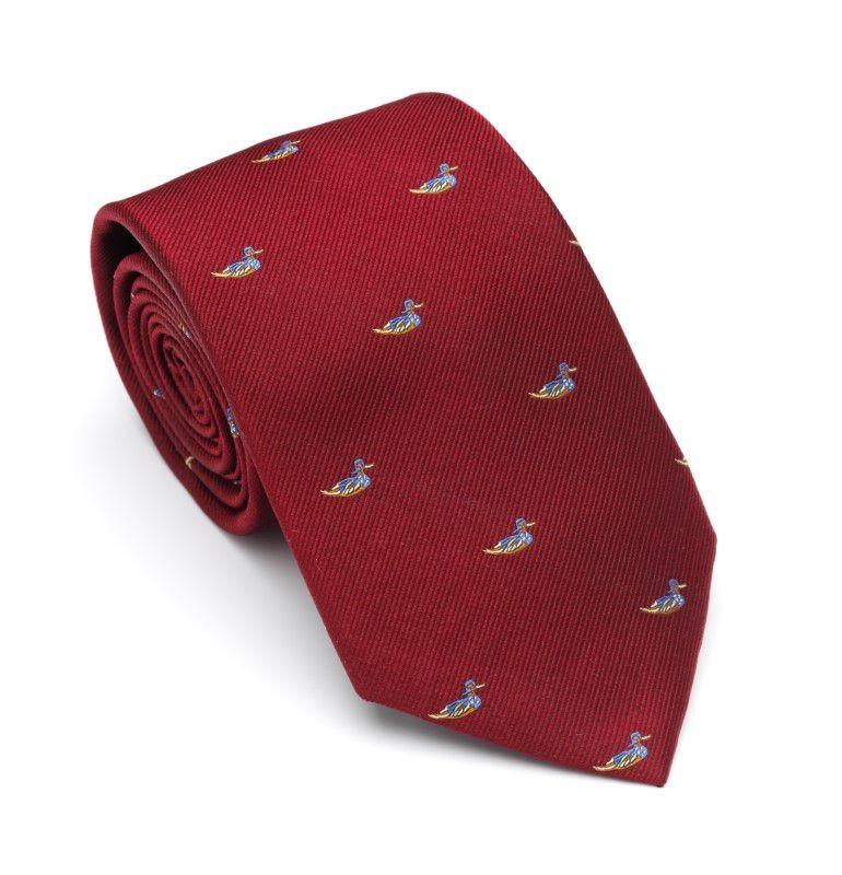 Laksen Swimming Duck Tie Vintage Red
