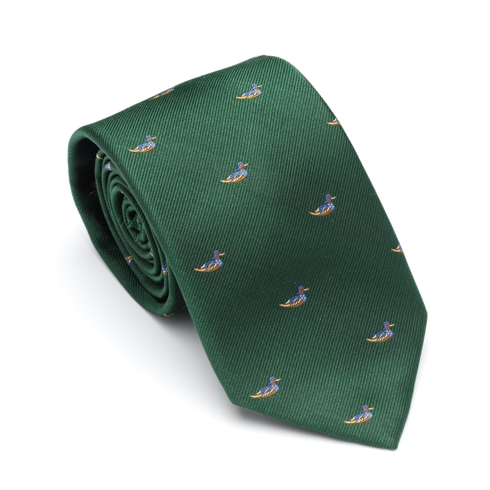 Laksen Swimming Duck Tie - British Racing Green Green