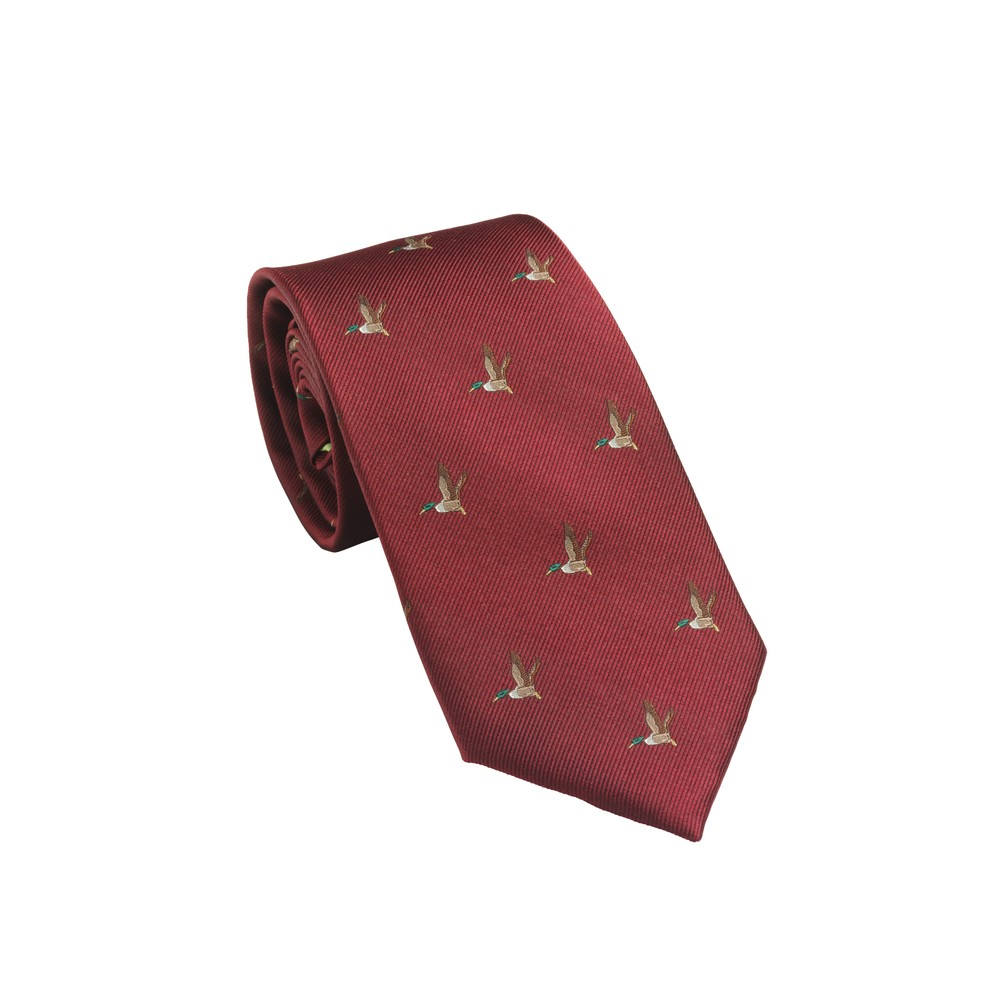 Laksen Laksen New Duck Tie - Vintage Red
