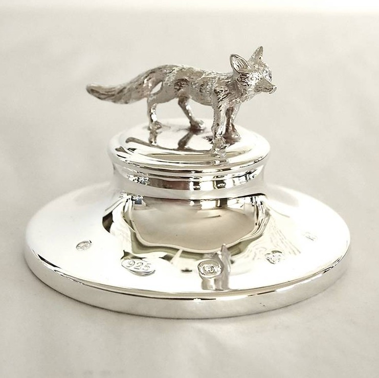 Unknown Paperweight Silver Fox