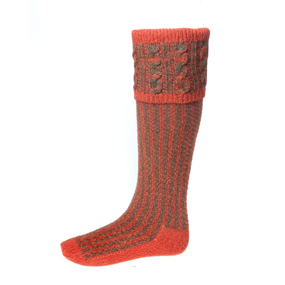 House of Cheviot Reiver Sock with Garters - Autumn Glow