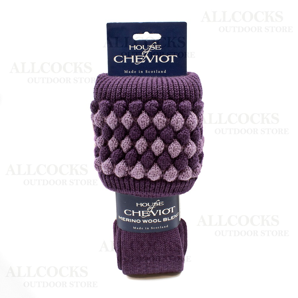 House of Cheviot Lady Angus Sock - Purple - Small