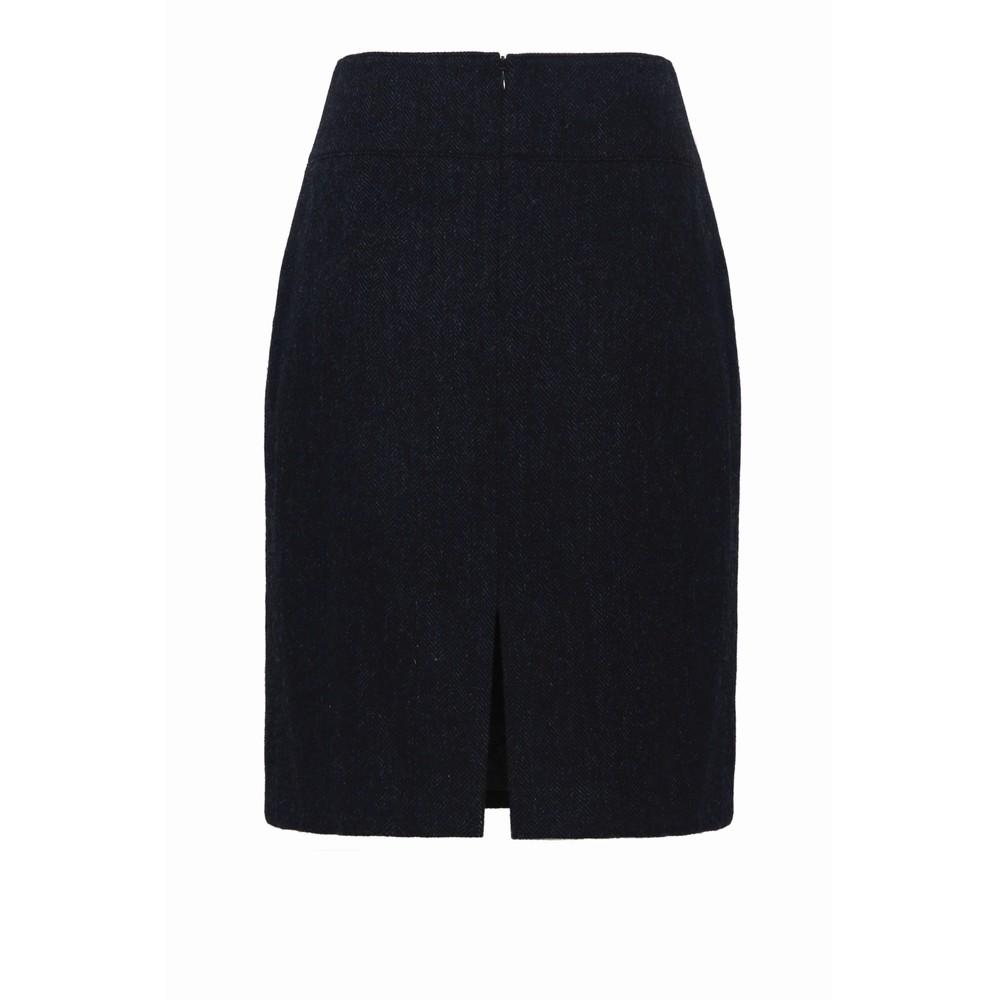 Anna Lascata Bernice Skirt Navy Herringbone
