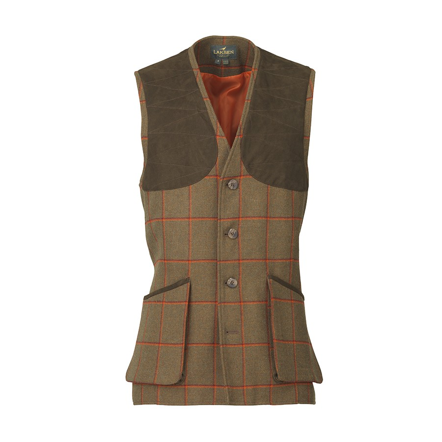 Laksen Tweed Shooting Vest Hivis Leith