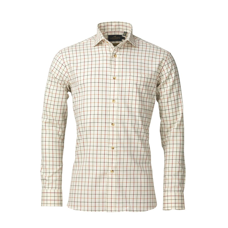 Laksen Abraham Cotton/Wool Shirt Multi