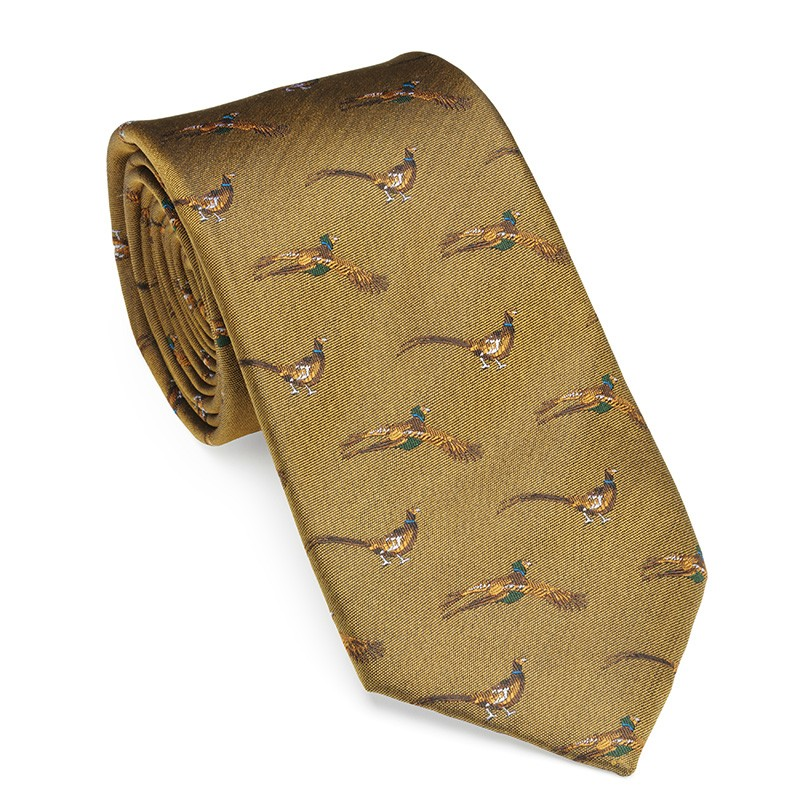 Laksen Laksen Silk Shooting Tie - Fly by Pheasant