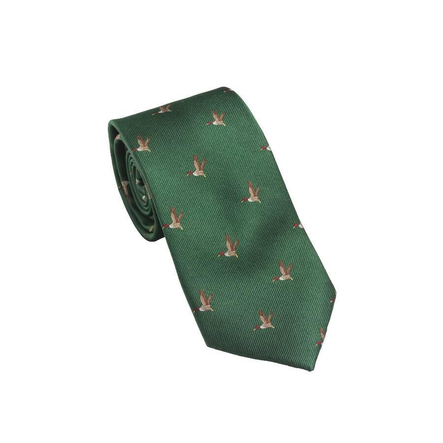 Laksen Silk Shooting Tie - Duck British Racing Green