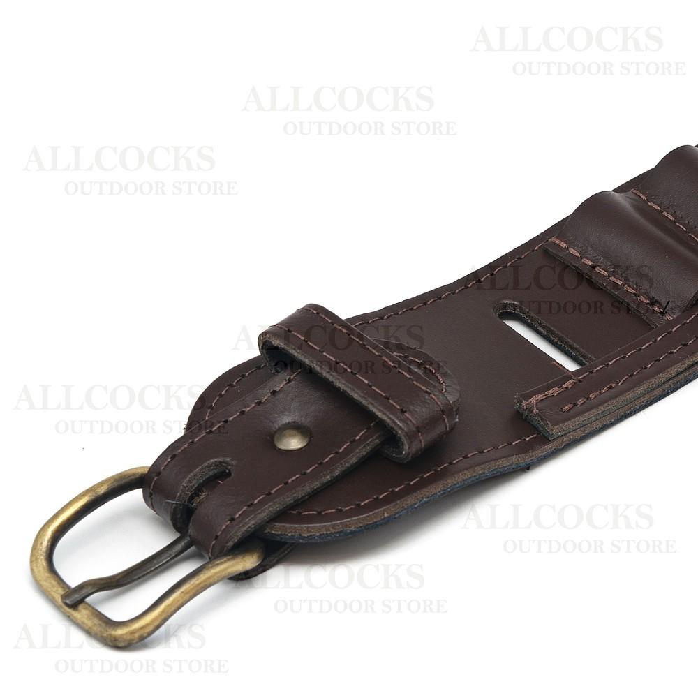 Guardian Leather Cartridge Belt - Leather Open Loop Brown