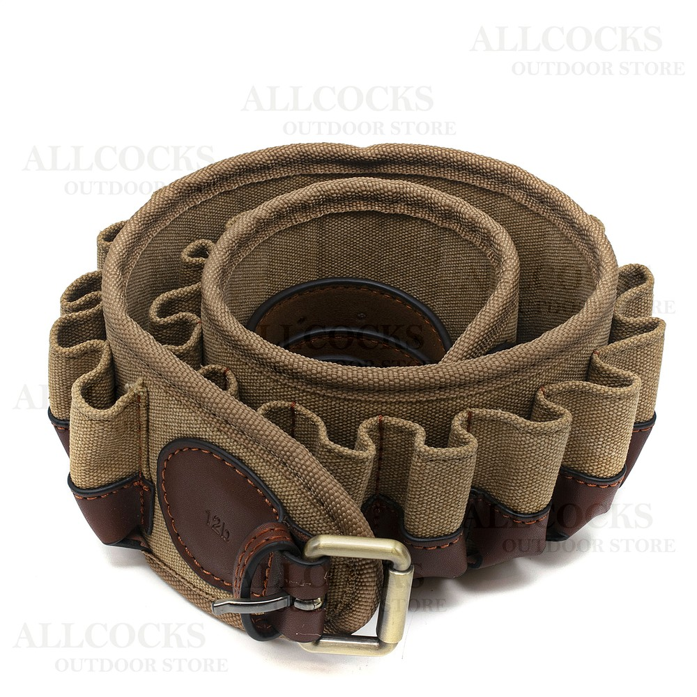 Guardian Heritage Cartridge Belt - Closed Loop - Canvas & Leather Canvas