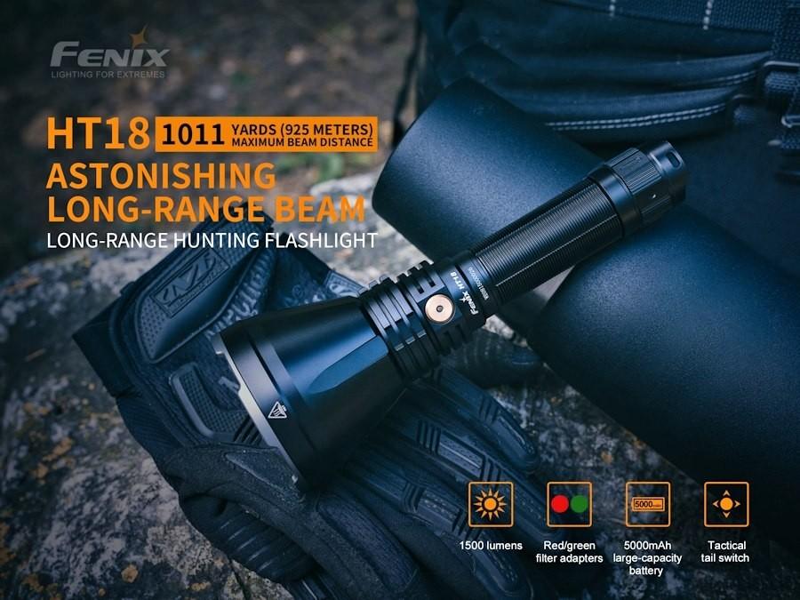 Fenix HT18 Long Range Torch Black