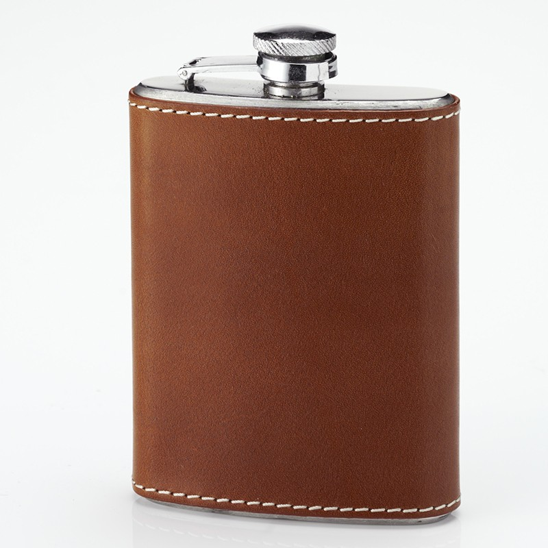 Laksen Laksen Pocket Flask Leather Bound - 0.2L
