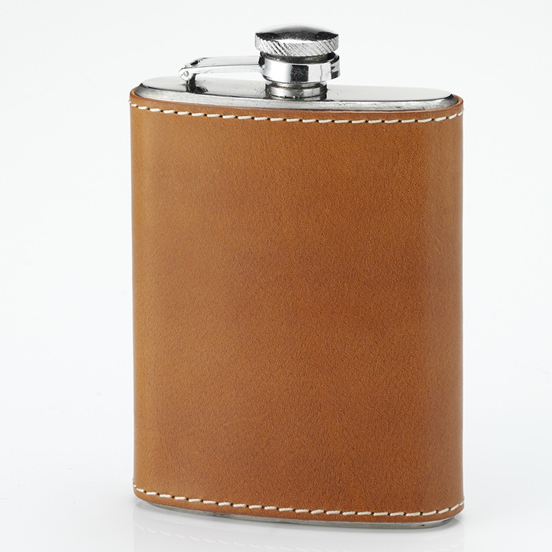 Laksen Laksen Pocket Flask Leather Bound .2L