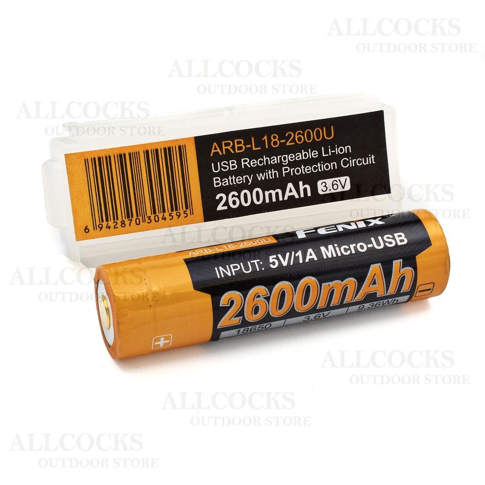 Fenix ARB-L18-2600U USB 18650 Battery